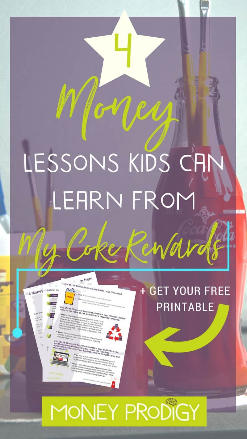 How to teach kids about money + a few money life skills using the My Coke Rewards program. Don't worry, you don't have to increase your kid's soda intake to take advantage of these tips! | https://www.moneyprodigy.com/how-to-teach-kids-about-money-coke-rewards/