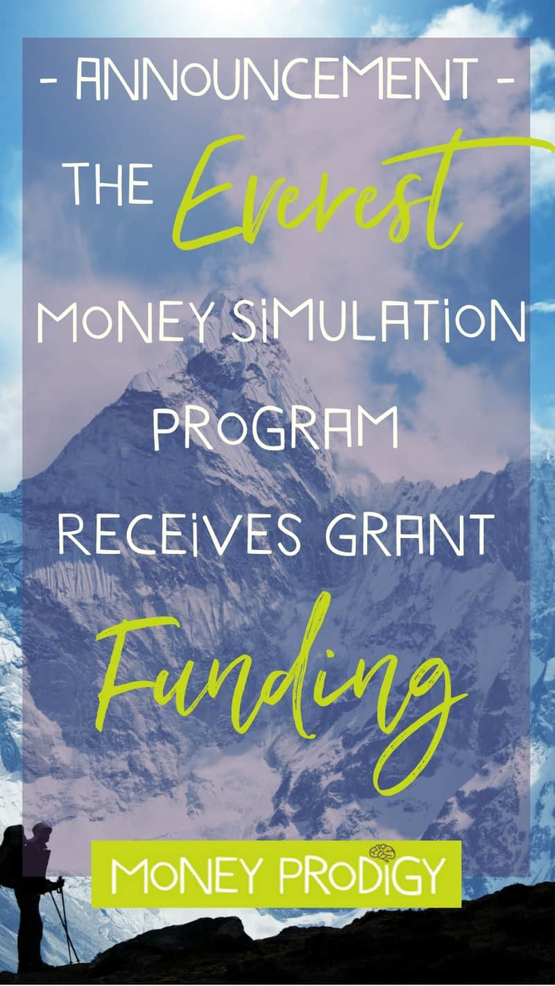 Wondering how to teach kids about money? We're creating the Mt. Everest Money Simulation Program & just received funding from The PLUTUS Foundation. Come learn more with this fun Everest for Kids program (not-VBS). | https://www.moneyprodigy.com/announcement-grant-everest-simulation/