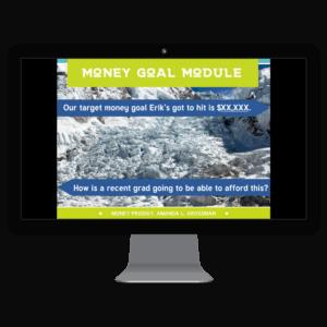 computer screenshot of Money Goal Module