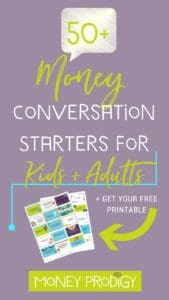 Use these free money conversation starters for kids to open up money dialogue in your household (plus keep the kids interested at dinner time and road trips). |