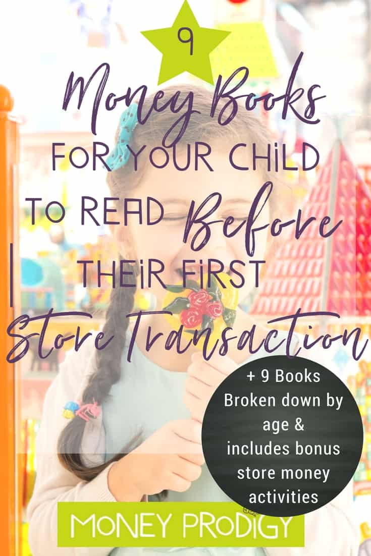 Move on from pretend store play + cash register games for kids. Use these 9 books & the bonus store money activities to help your child make their first store transaction! How exciting. | https://www.moneyprodigy.com/9-money-books-read-kid-ready-first-store-transaction/