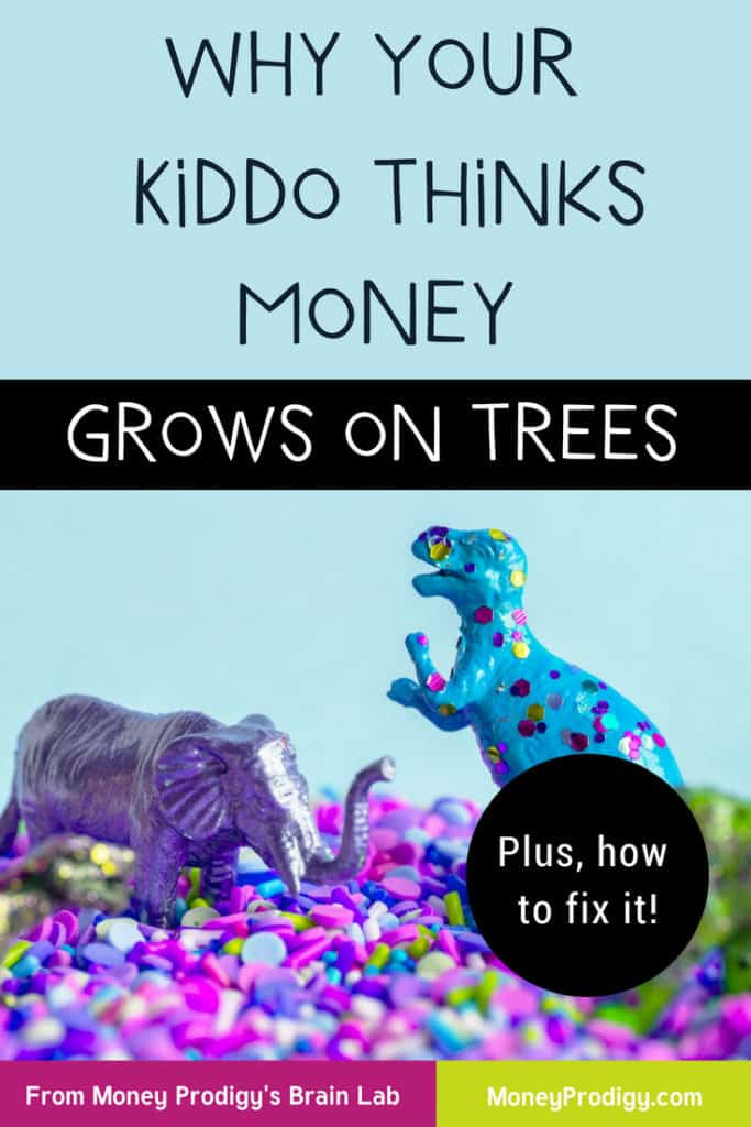 You swore you'd never ask your kid if they think money grows on trees but they seem to think it does. Find out why that is and get what you can do to get your kiddo to think otherwise. #moneygrowsontrees #lifeskills #kidssavemoney #parenting #momgoals #parenthood #kids #parentingtips | https://www.moneyprodigy.com/money-grows-on-trees/