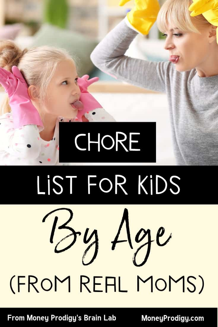 What are age appropriate chores for kids that are my kid's ages? I have a 5, 8, and 10 year old – what am I supposed to give them for chores? I love how this woman actually surveyed 170 mothers to find out what THEY are doing with their kids, then breaks it down in lists, by age. Children chores list, including HOW you should go about choosing chores for your own child (growth mentality in mind – love that!). Teen chores included. #choresforkids #chores