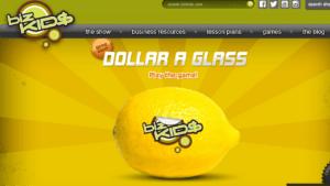 Screenshot of biz Kid$ homepage