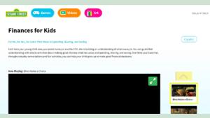 screenshot of Sesame Street's Finances for Kids