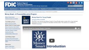 screenshot of FDIC Money Smart