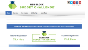 screenshot of H&R Block's Budget Competition