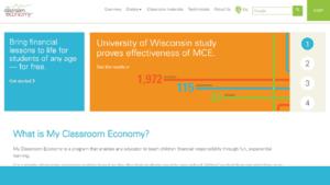 screenshot of Vanguard's My Classroom Economy