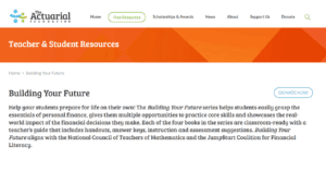 screenshot of The Actuarial Foundation
