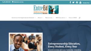 screenshot of EntreEd homepage