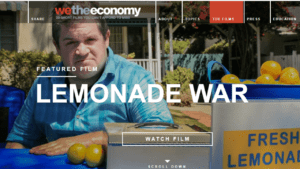 screenshot of We the Economy's page