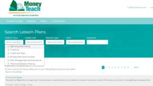 screenshot of Money Teach