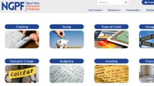 screenshot of NGPF's homepage