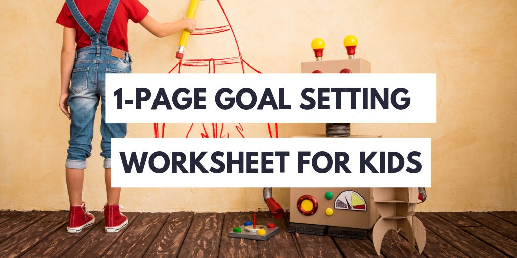 goal setting worksheet for kids
