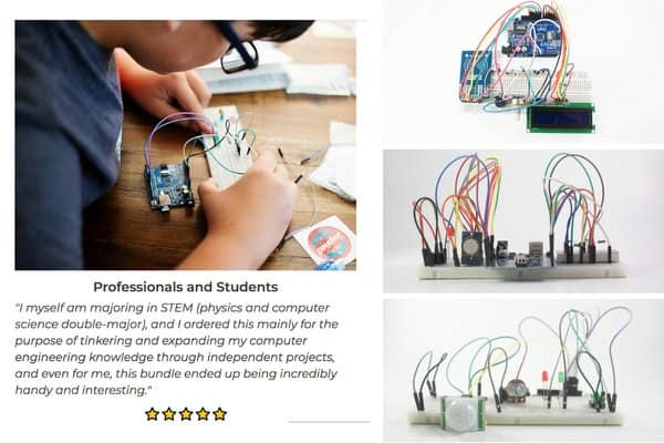kid using materials in a creation crate subscription box to create a STEM project