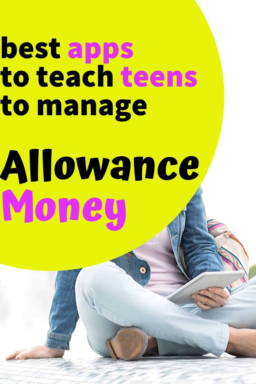 teen sitting on floor using a money app