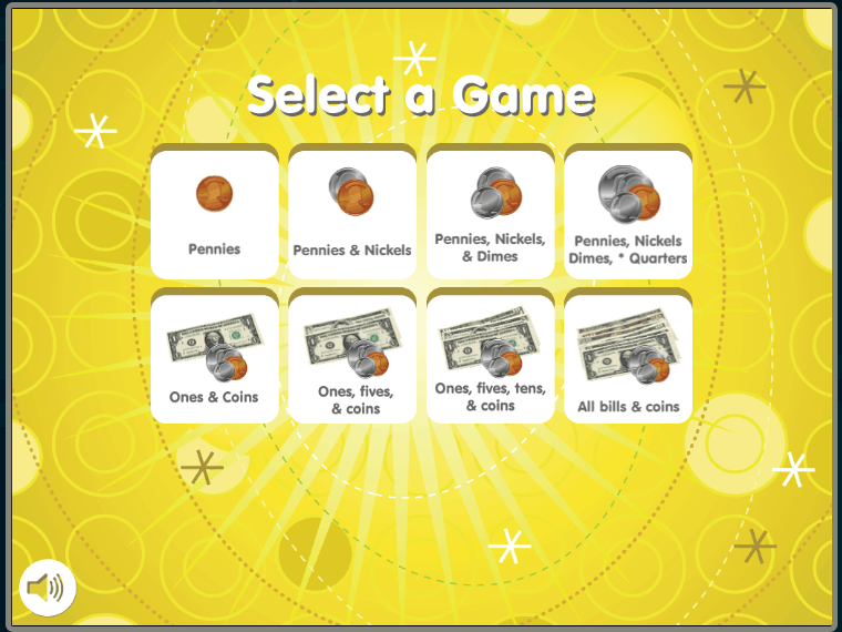screenshot of money bingo app