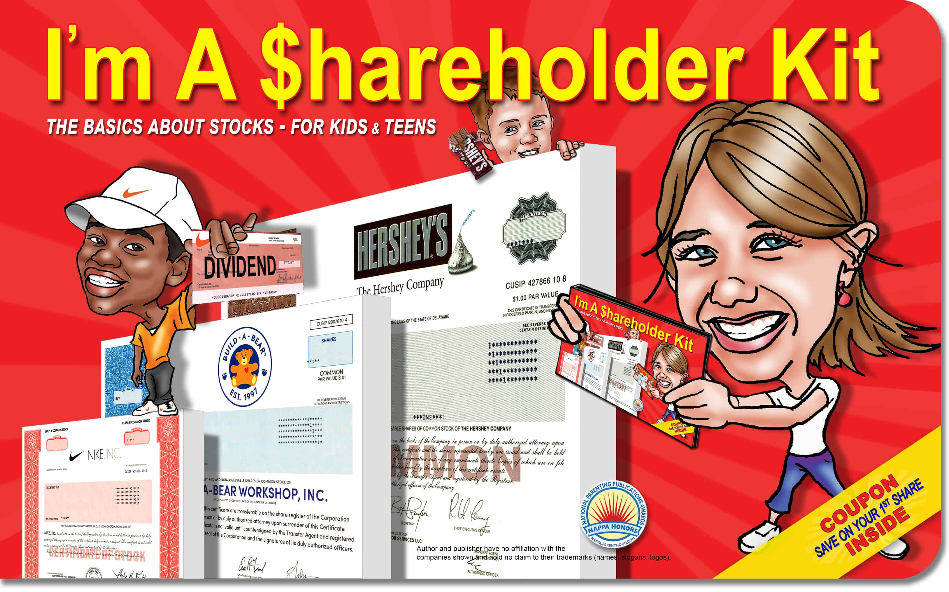 screenshot of I'm a Shareholder Kit cover - investing for kids