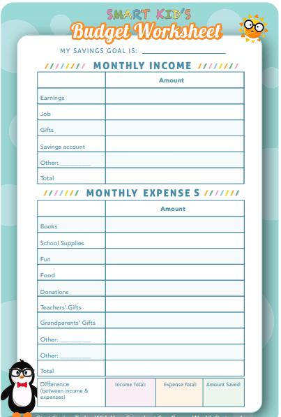 screenshot of kid money tracker