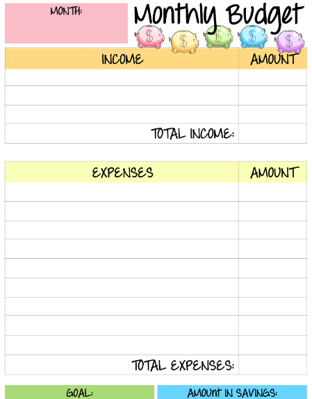 Sample Household Budget Template from www.moneyprodigy.com