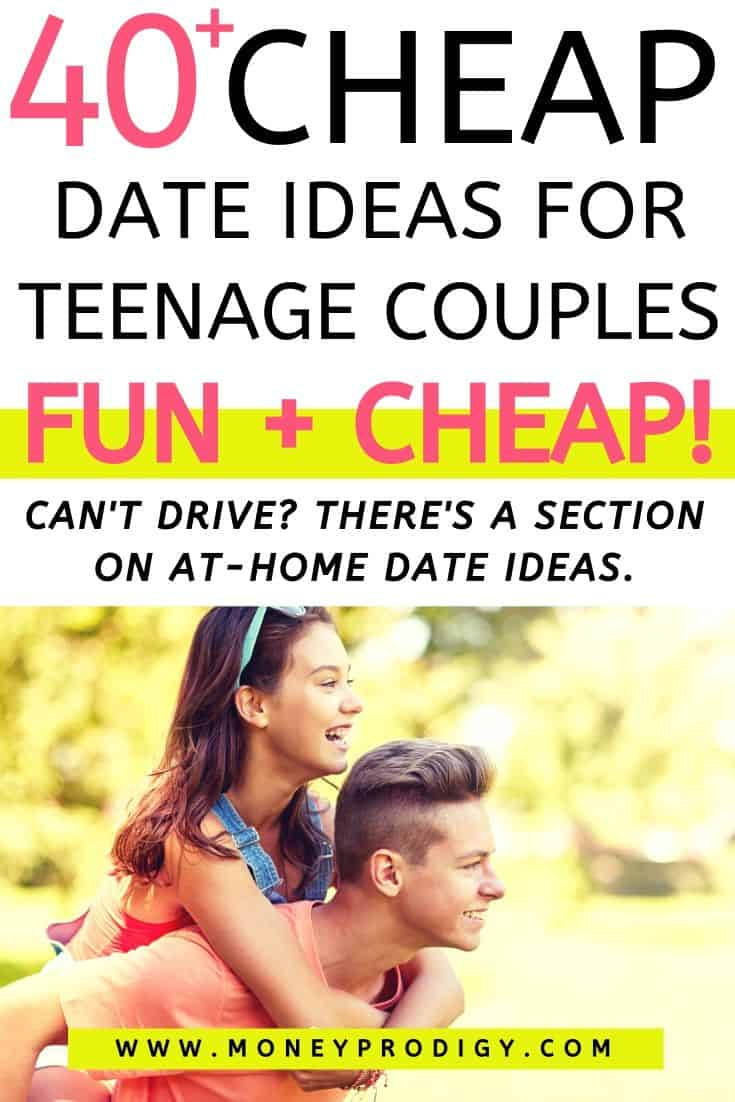 "teen couple piggyback riding, text overlay"" 40 cheap date ideas for teenager couples FUN and CHEAP"""