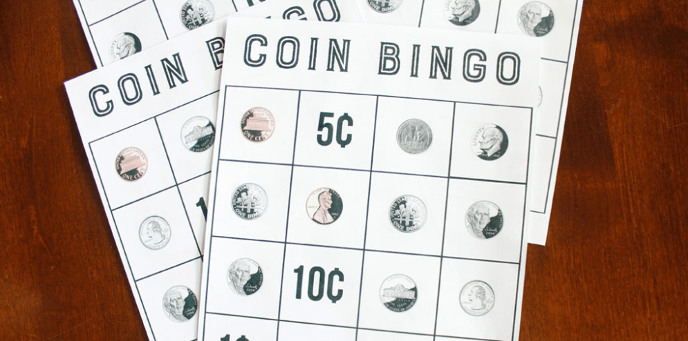 screenshot of coin bingo money game