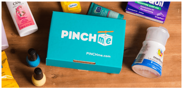 screenshot of PINCHme box with lots of free samples