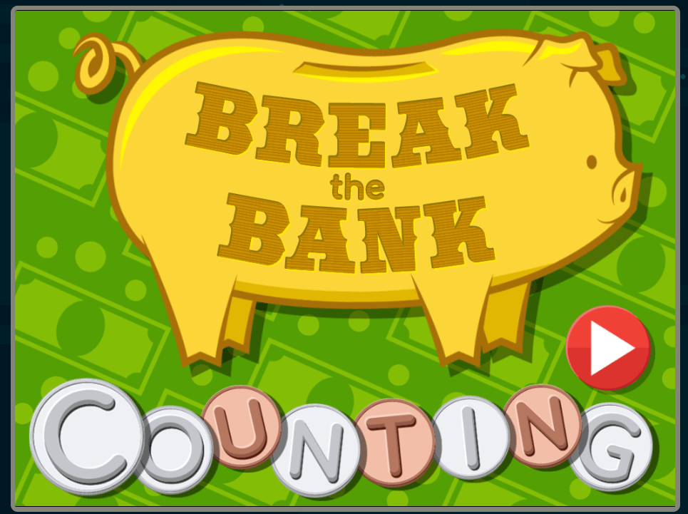 screenshot of Break the Bank online counting game