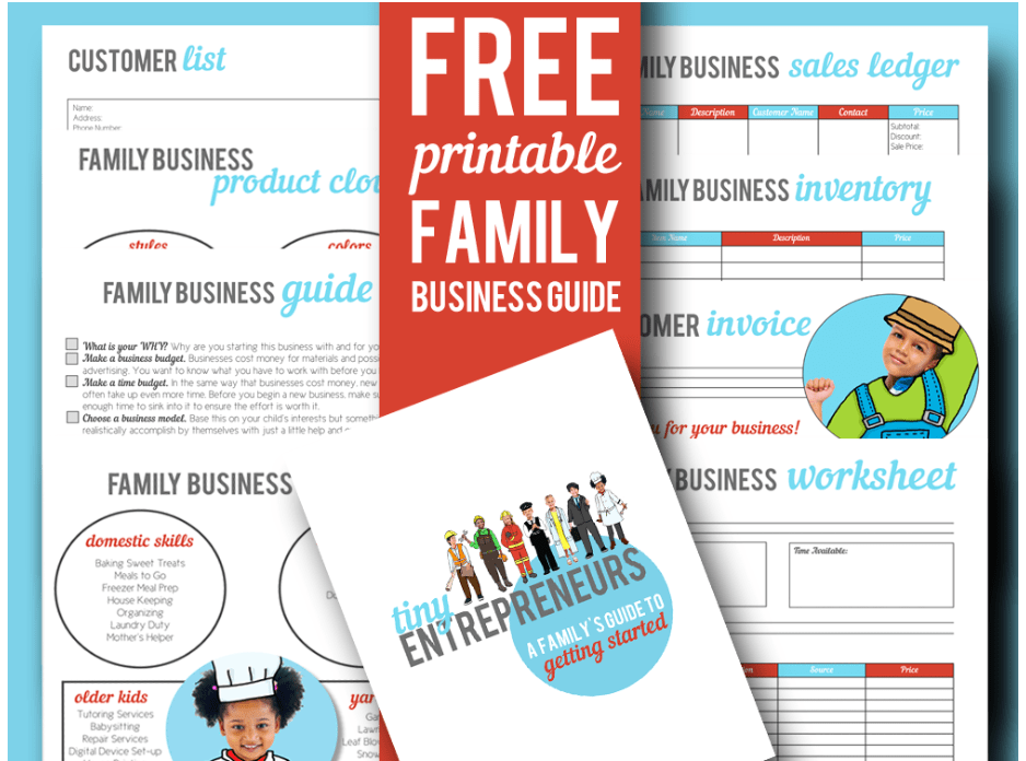 screenshot of family business guide - free printable