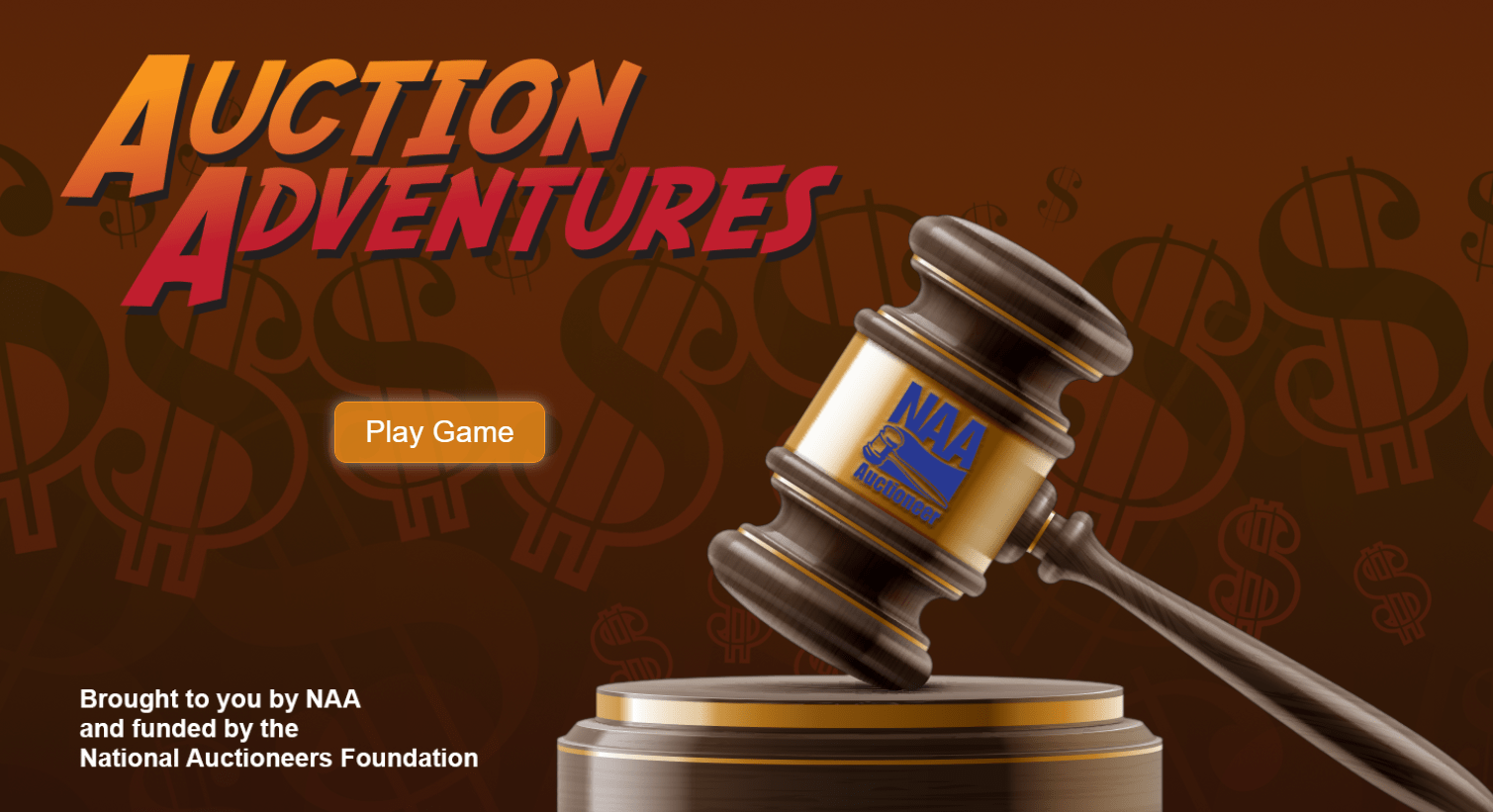screenshot of auction adventures career games for kids