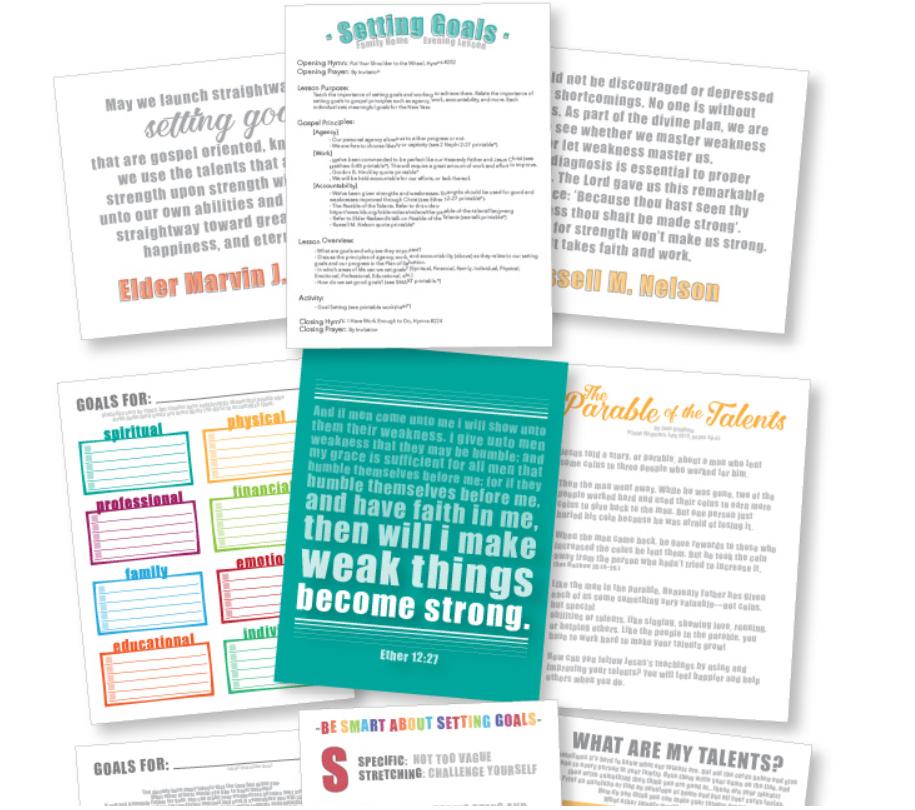 screenshot of biblical based goal setting workbook pdf for teens