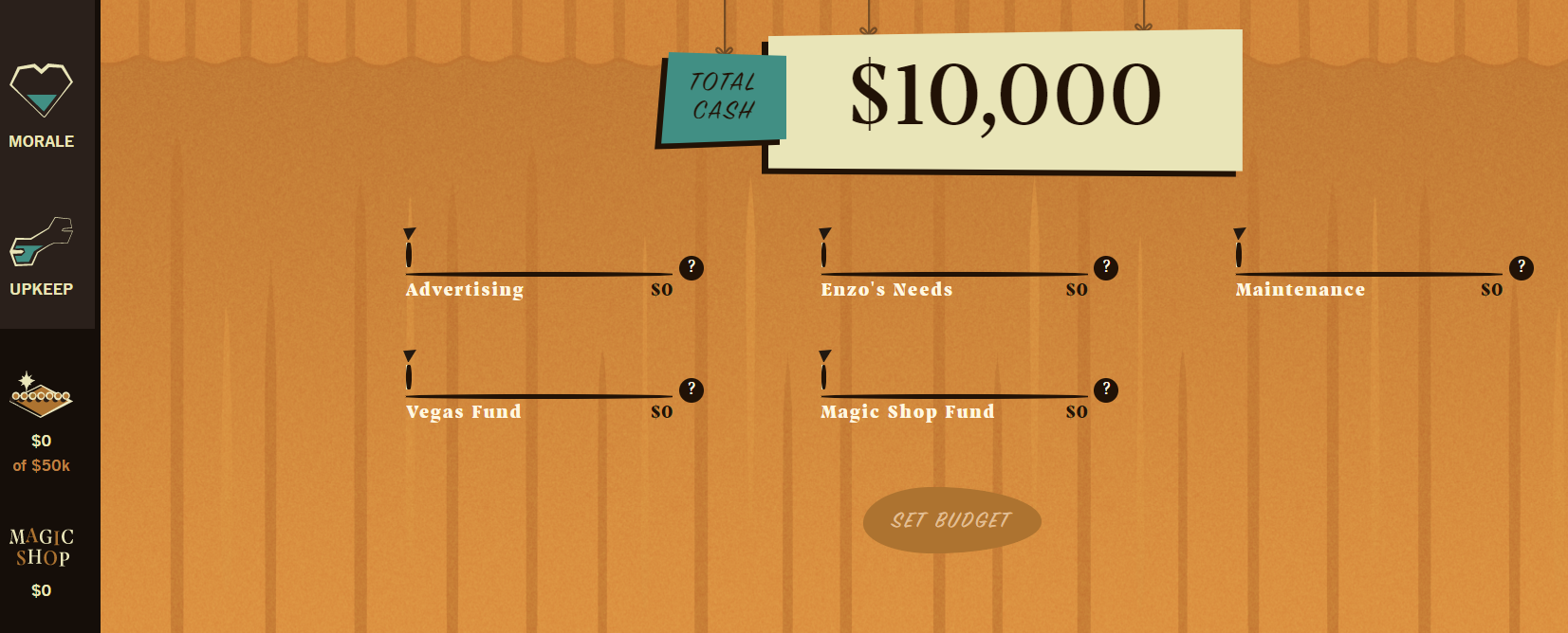 screenshot of free personal finance literacy game for high school students called Money Magic