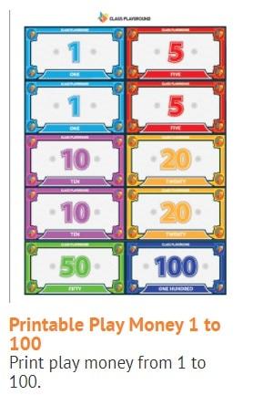 screenshot of school play money called class playground