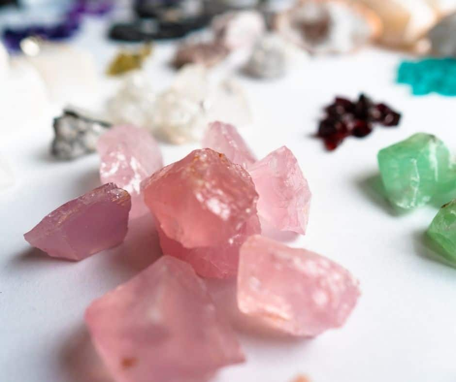 image of raw gems created by science that teens can do as Valentine's Day activity