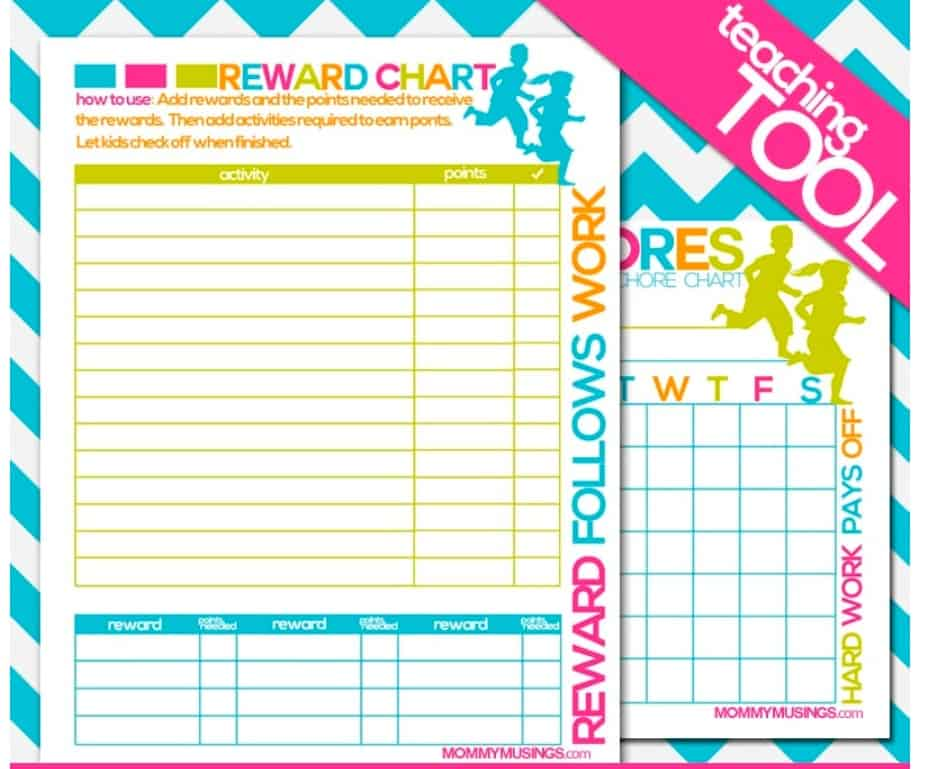 screenshot of my responsibility chart printable