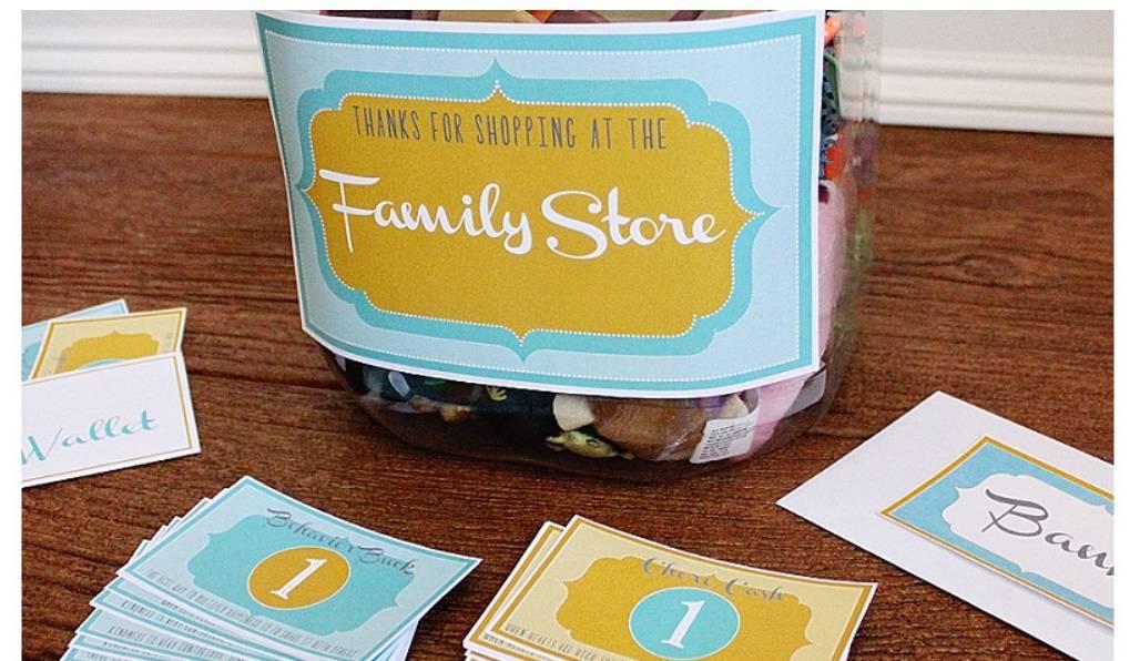 screenshot of positive reinforcement ideas family store