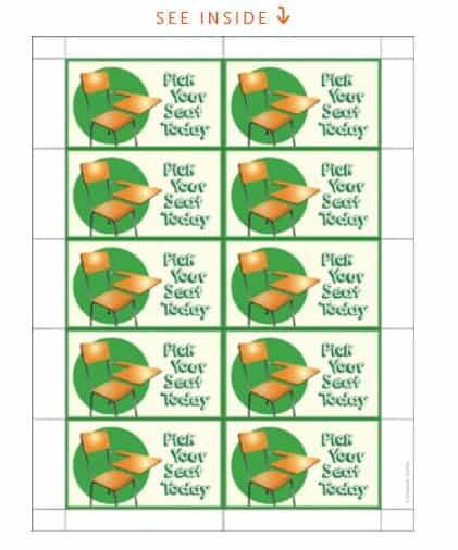 screenshot of scholastic printable good job tickets for classroom rewards