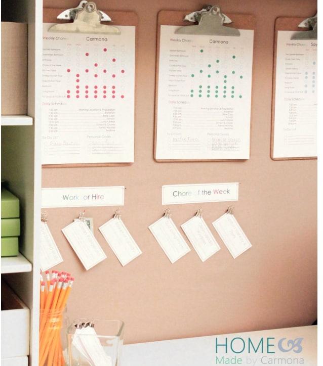 screenshot of task center chore system reward chart for kids