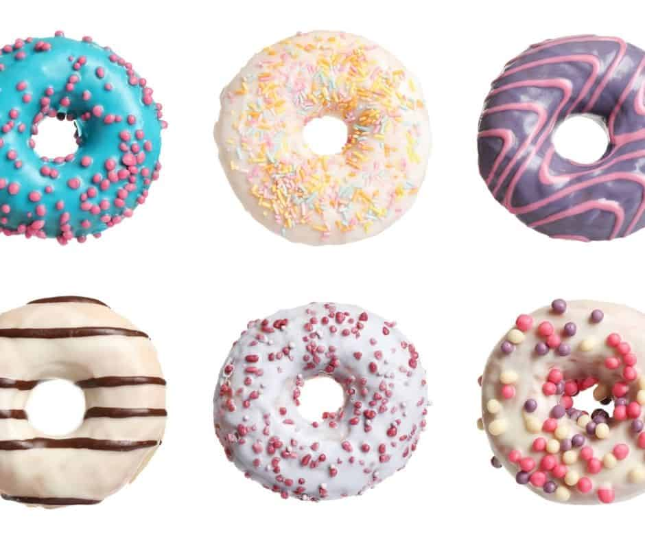 six colorful donut soaps - things kids can make and sell
