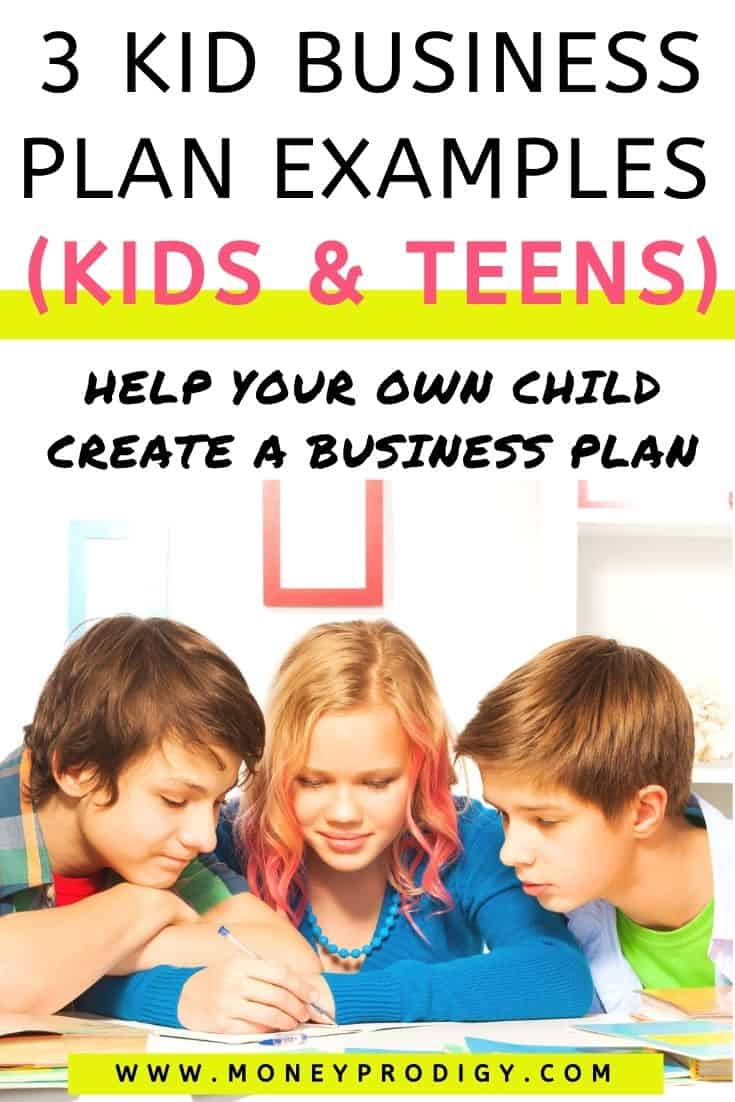 three older kids working on a kid business template together at a desk